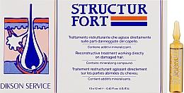 Духи, Парфюмерия, косметика Ампульное средство для восстановления безжизненных, посеченных волос - Dikson Structur Fort