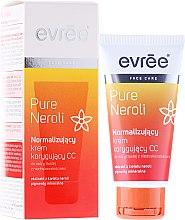 Духи, Парфюмерия, косметика Нормализующий коррекционный CC крем для лица - Evree Pure Neroli Balancing CC Cream