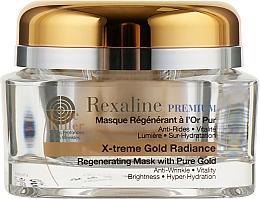 Духи, Парфюмерия, косметика Омолаживающая маска для лица с частицами золота 24K - Rexaline Line Killer X-Treme Gold Radiance Mask