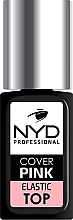 Духи, Парфюмерия, косметика Топовое камуфлирующие покрытие для гель-лака - NYD Professional Cover pink elastic top