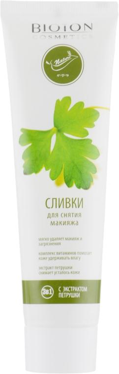 Сливки для снятия макияжа с экстрактом петрушки - Bioton Cosmetics Nature Face Milk
