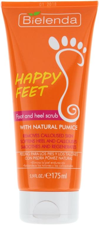 Пилинг для ступней и пяток с натуральной пемзой - Bielenda Happy End Foot and Heel Scrub