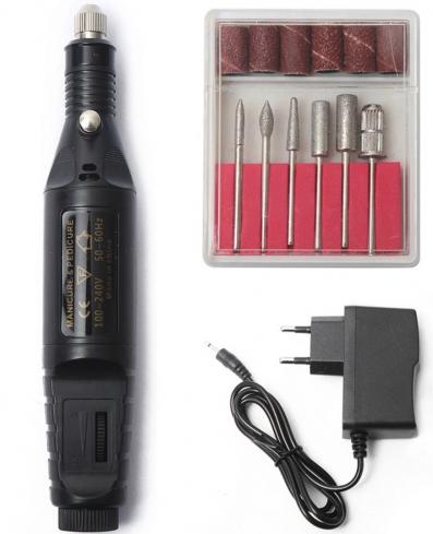 Фрезер-ручка для маникюра, черная - Avenir Cosmetics Variable Speed Rotary Detail Carver
