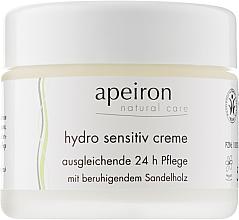 Духи, Парфюмерия, косметика Увлажняющий крем для чувствительной кожи - Apeiron Hydro Sensitiv Cream 24h
