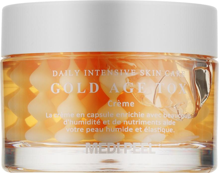 Антивозрастной капсульный крем с экстрактом золотого шелкопряда - Medi Peel Gold Age Tox Cream