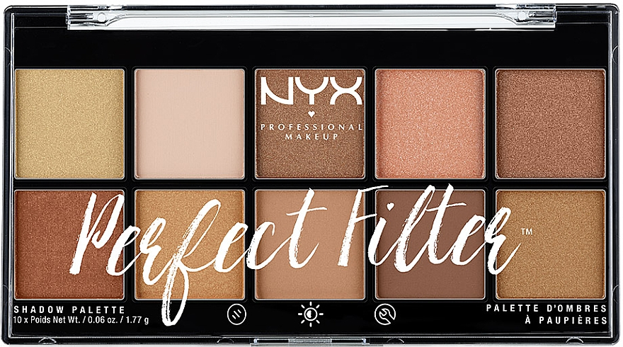 Палетка теней для век - NYX Professional Makeup Perfect Filter Shadow Palette