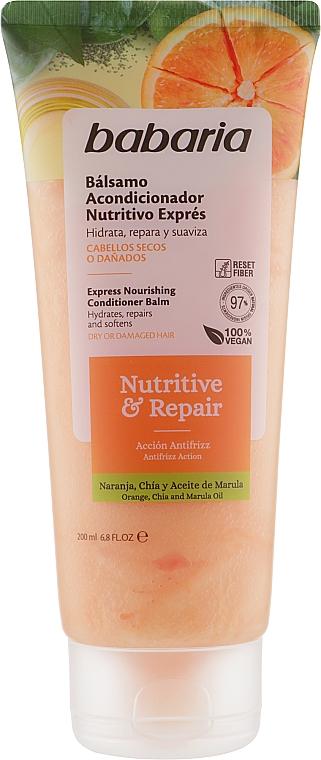 """Кондиционер для волос """"Экспресс-питание"""" - Babaria Nutritive & Repair Conditioner"""