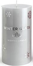 Духи, Парфюмерия, косметика Ароматическая свеча, серая, 9х13см - Artman Winter Glass