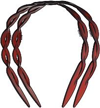 """Духи, Парфюмерия, косметика Обруч для волос пластмассовый """"Plait"""", маленький, 2шт., коричневый - Titania"""