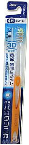 Зубная щетка с многоуровневыми щетинками средней жесткости, оранжевая - Lion Clinica 3D
