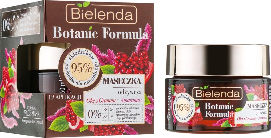 """Маска для лица """"Масло граната и амарантус"""" - Bielenda Botanic Formula Nourishing Face Mask Pomegranate Oil+Amaranth"""