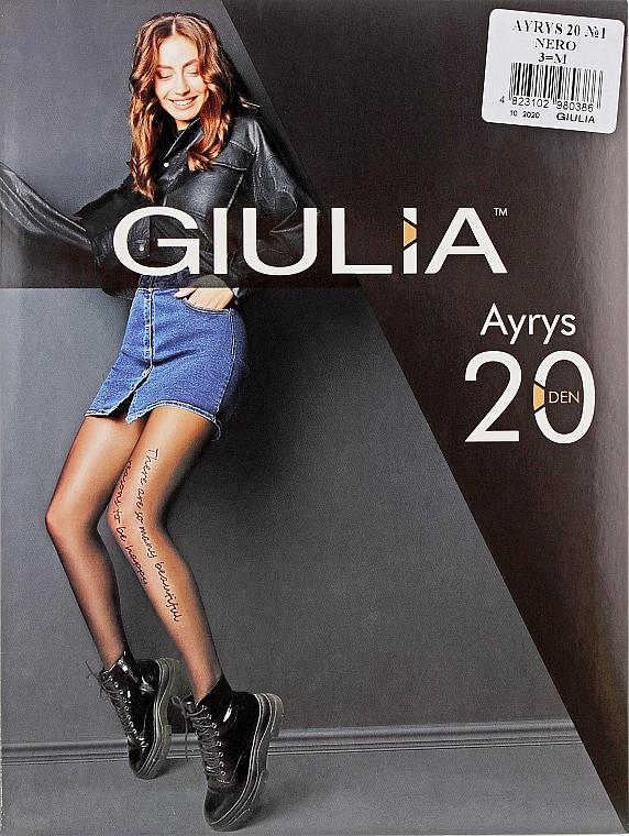 """Колготки для женщин """"Ayrys Model 1"""" 20 Den, nero - Giulia"""