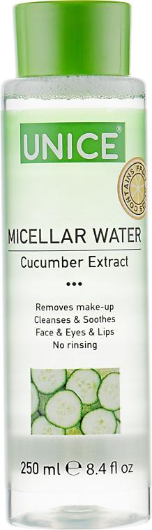 Очищающая мицеллярная вода - Unice Micellar Water Cucumber Extract