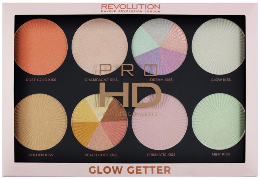Палетка хайлатеров - Makeup Revolution Pro HD Palette Glow Getter