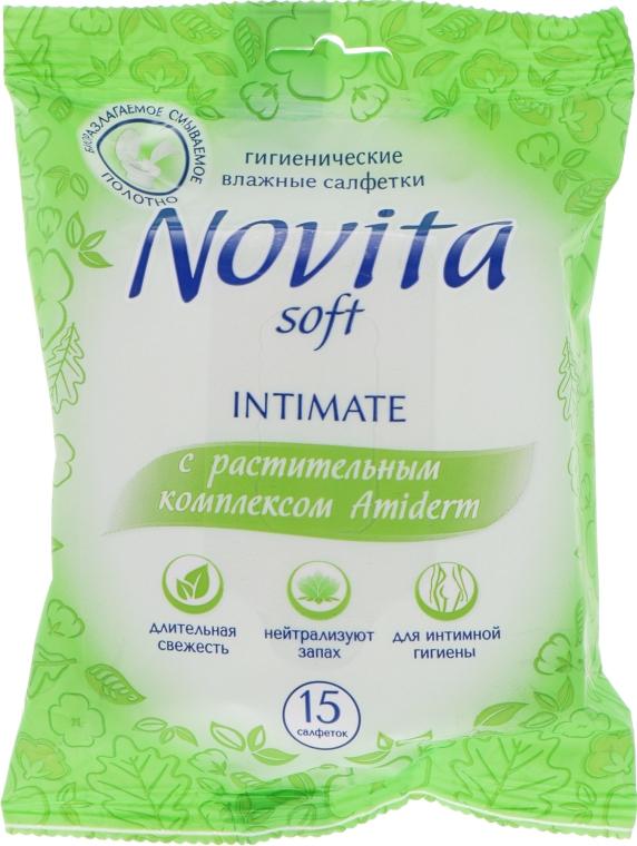 """Влажные салфетки """"Intimate"""" с растительным комплексом Amiderm - Novita Soft"""