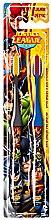 Духи, Парфюмерия, косметика Зубная щетка для детей - VitalCare Batman and Superman DUO Toothbrush