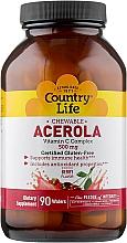 Духи, Парфюмерия, косметика Ацерола, витамин С комплекс, 500 мг - Country Life Acerola Vitamin C Complex