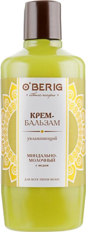 """Крем-бальзам """"Миндально-молочный"""" с медом - O'BERIG"""