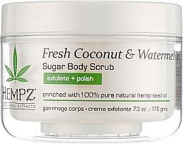 """Духи, Парфюмерия, косметика Скраб для тела """"Кокос и арбуз"""" - Hempz Herbal Sugar Body Scrub Fresh Coconut Watermelon"""