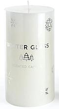 Духи, Парфюмерия, косметика Ароматическая свеча,белая, 7х19см - Artman Winter Glass