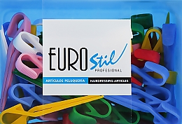 Духи, Парфюмерия, косметика Зажимы пластиковые средние, разноцветные, 00056 - Eurostil