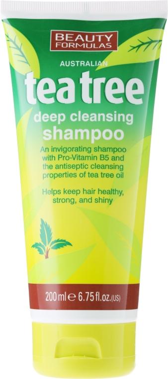 """Шампунь для волос """"Чайное дерево"""" - Beauty Formulas Tea Tree Deep Cleansing Shampoo"""