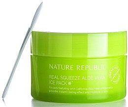 Духи, Парфюмерия, косметика Маска для лица охлаждающая - Nature Republic Real Squeeze Aloe Vera Ice Pack
