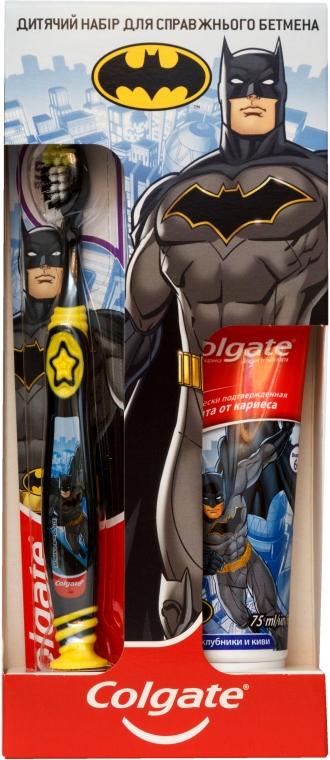 Детский набор по уходу за зубами «Для настоящего Бэтмена» - Colgate (toothpaste/75ml + toothbrush/1pc)