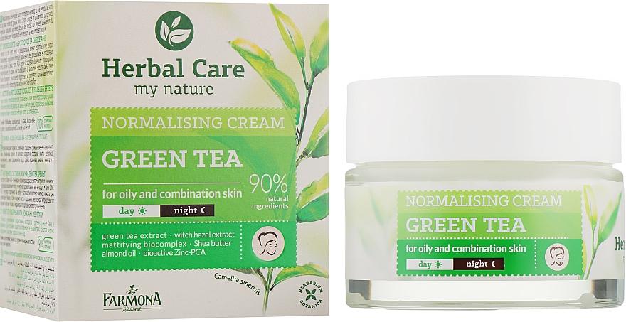 "Нормализующий крем для лица ""Зеленый чай"" - Farmona Herbal Care Normalising Cream"