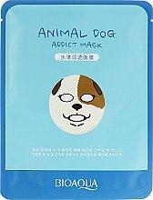 Духи, Парфюмерия, косметика Увлажняющая тканевая маска для лица с принтом - BioAqua Animal Dog Addict