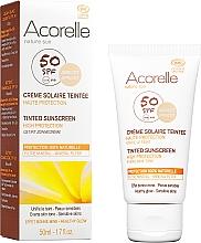 Духи, Парфюмерия, косметика Солнцезащитный крем для лица с эффектом тонирования - Acorelle Nature Sun Cream SPF50