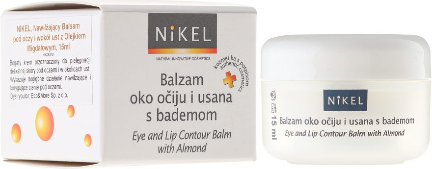 Бальзам под глаза и вокруг губ с миндальным маслом - Nikel Eye and Lip Contour Balm