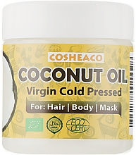 Духи, Парфюмерия, косметика Кокосовое масло для волос холодного отжима, нерафинированное - Cosheaco Oils & Butter