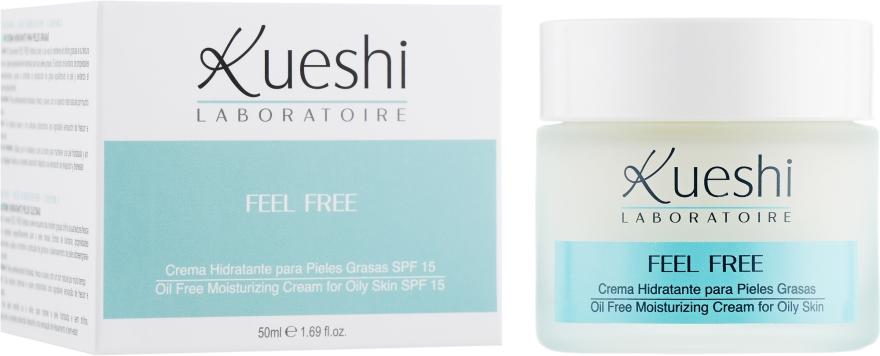 Крем для жирной кожи лица - Kueshi Feel Free Crema Pieles Grasas Oil Free
