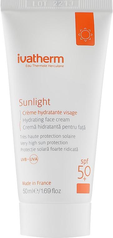 Молочко для лица - Ivatherm Sunlight Hydrating Face Cream SPF50
