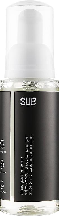 Пенка для умывания с фруктовыми кислотами для комбинированной и жирной кожи - Sue