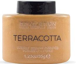 Духи, Парфюмерия, косметика Пудра для лица - Makeup Revolution Terracotta Luxury Baking Powder