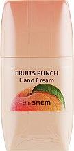 Духи, Парфюмерия, косметика Фруктовый крем для рук - The Saem Fruits Punch Peach Hand