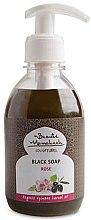 Духи, Парфюмерия, косметика Жидкое черное мыло с маслом розы - Beaute Marrakech Rose Black Liquid Soap