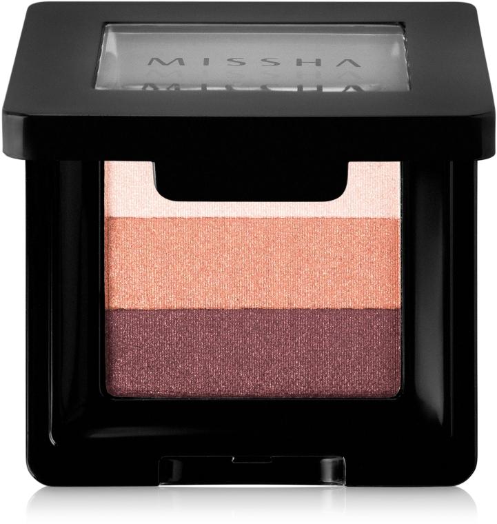 Трехцветные тени для век - Missha Triple Shadow