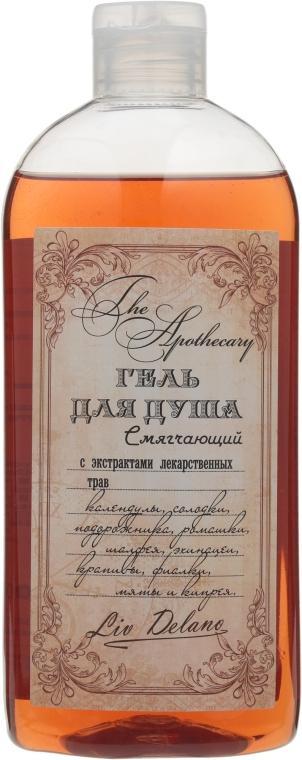 Гель для душа смягчающий с экстрактами лекарственных трав - Liv Delano The Apothecary