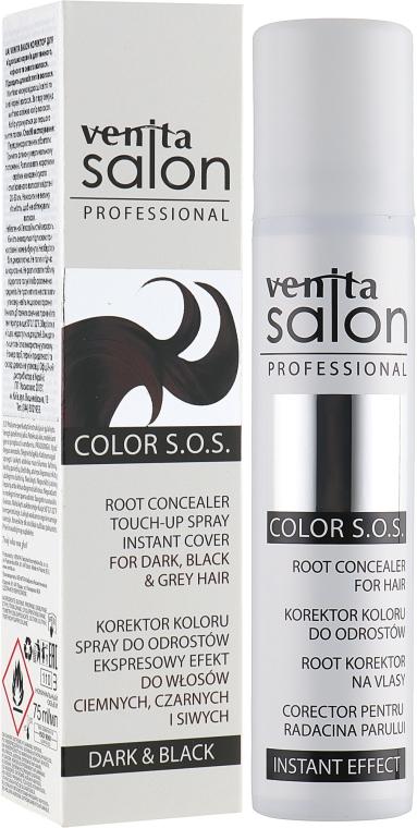 Спрей для волос - Venita Salon Professional Root Concealer Dark & Black Hair