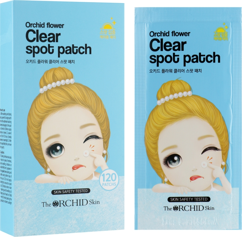 Очищающие точечные патчи - The Orchid Skin Orchid Flower Clear Spot Patch