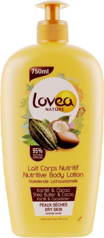 Лосьон для тела с маслом ши и какао - Lovea Nature Nutritive Body Lotion Shea & Cacao