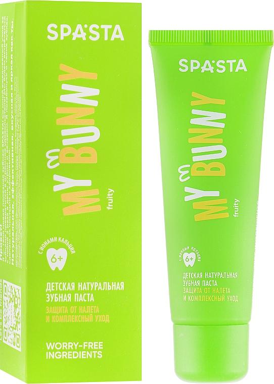 """Детская натуральная зубная паста """"Защита от налета и комплексный уход"""" - Spasta My Bunny"""