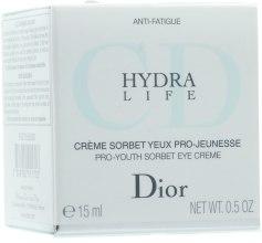 Крем для контура глаз увлажняющий - Christian Dior Hydra Life Pro-Youth Sorbet Eye Creme — фото N1