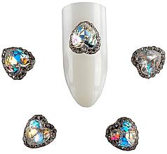 Духи, Парфюмерия, косметика Брошь для дизайна ногтей St-H02, 2 шт - F.O.X Brooch №2 Stone Heart