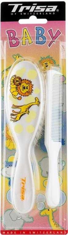 Щетка для волос детская, белая - Trisa