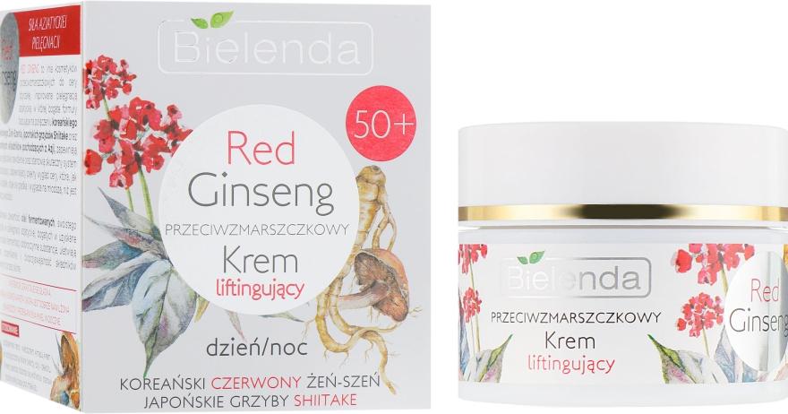 Подтягивающий крем против морщин - Bielenda Red Ginseng Lifting Cream 50+