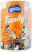"Духи, Парфюмерия, косметика Полотенца бумажные ""Family XL"", 2 слоя, 45м, 1 рулон - Grite"